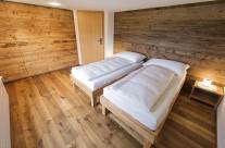 Hinteres Schlafzimmer mit Doppelbett
